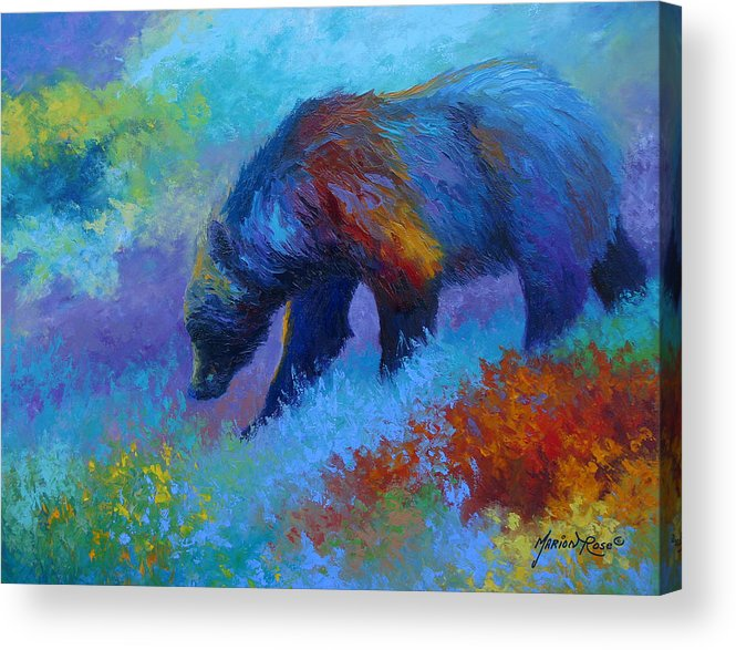 Western Acrylic Print featuring the painting Denali Grizzly Bear by Marion Rose