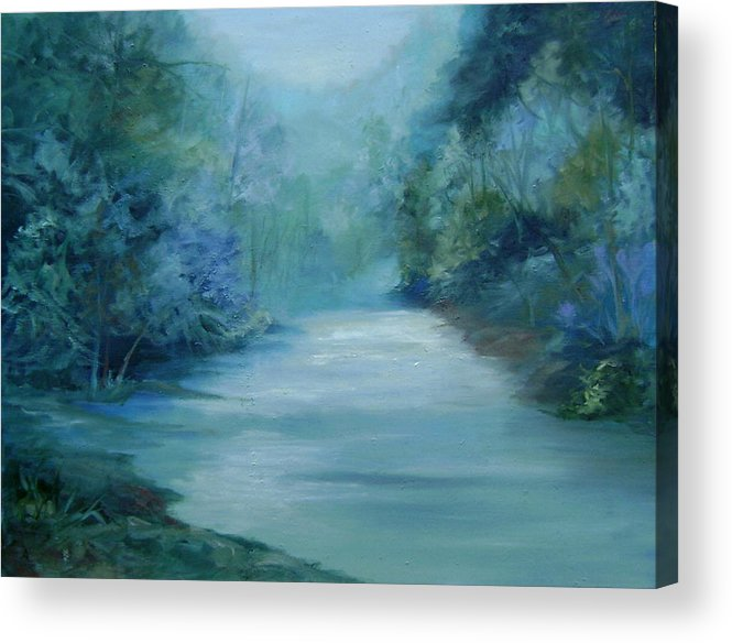Burton River Georgia Acrylic Print featuring the painting Dreamsome by Ginger Concepcion