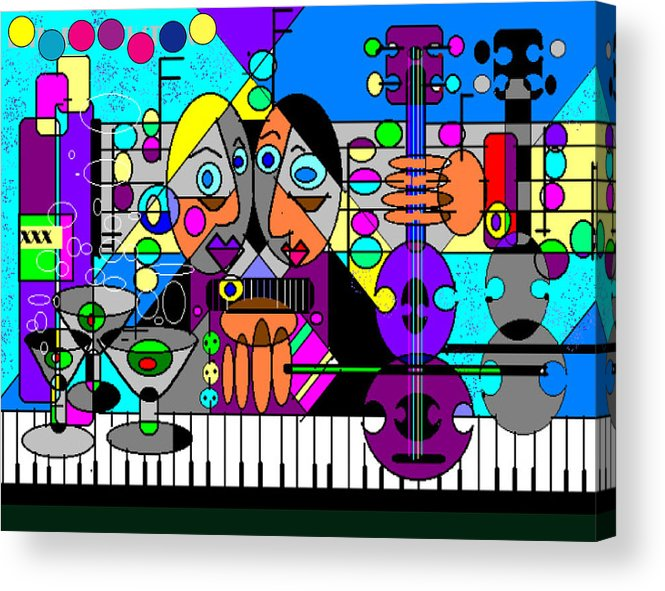 Music Acrylic Print featuring the digital art Duets by George Pasini
