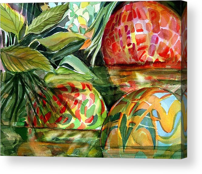 Float Acrylic Print featuring the painting Floating by Mindy Newman