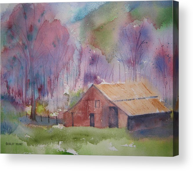 Landscape Acrylic Print featuring the painting Foothills Farm Ll by Shirley Braithwaite Hunt