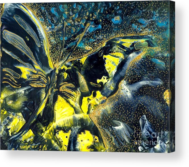 Butterfly Acrylic Print featuring the painting Freedom For Margot by Heather Hennick