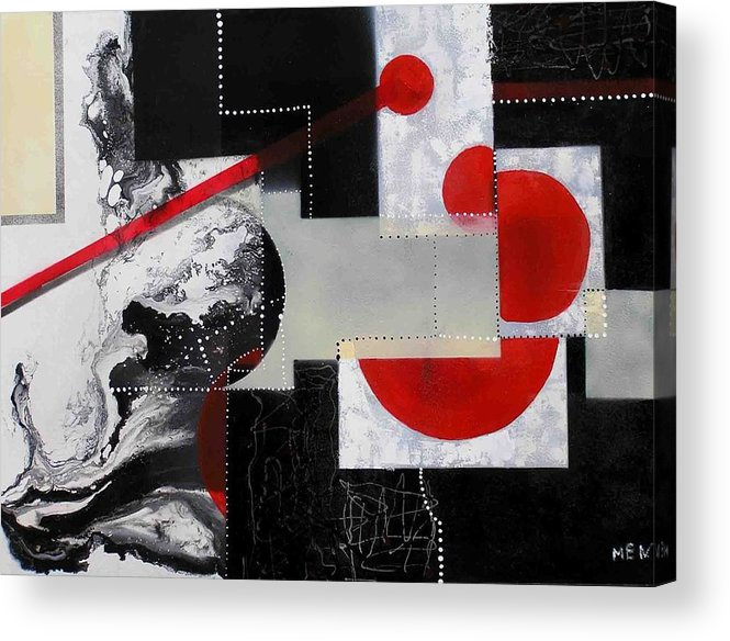 Acrylic Print featuring the painting Geometry In Space by Evguenia Men