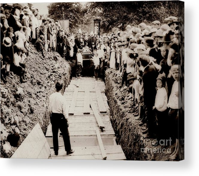 Common Grave Acrylic Print featuring the photograph Georgetown Section Of Wilkes Barre Twp. June 5 1919 by Arthur Miller