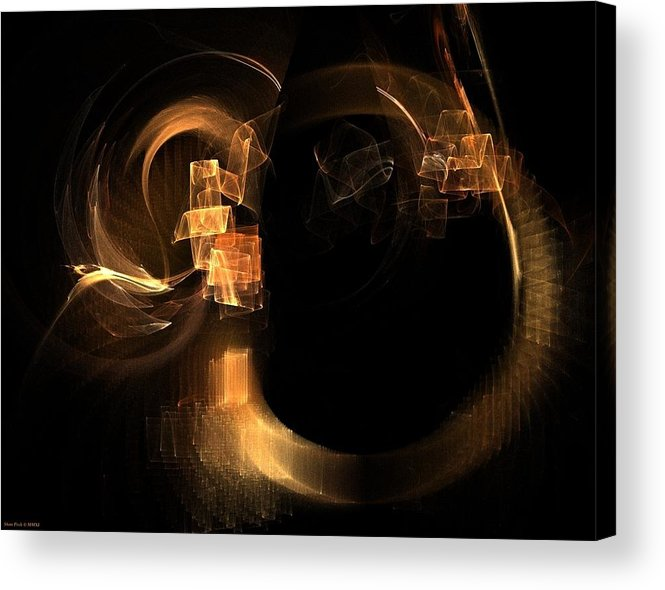 Hadron Acrylic Print featuring the painting Hadron Collider by Shan Peck