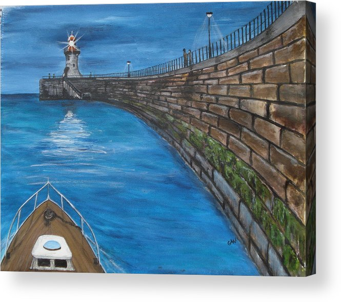 Harbour Acrylic Print featuring the painting Harbour Light by Carol Williams