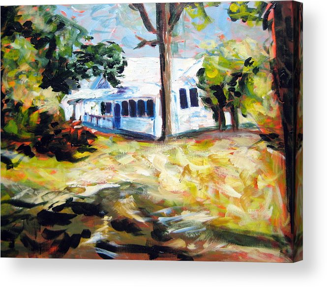 House Acrylic Print featuring the painting House Two by Rebecca Merola