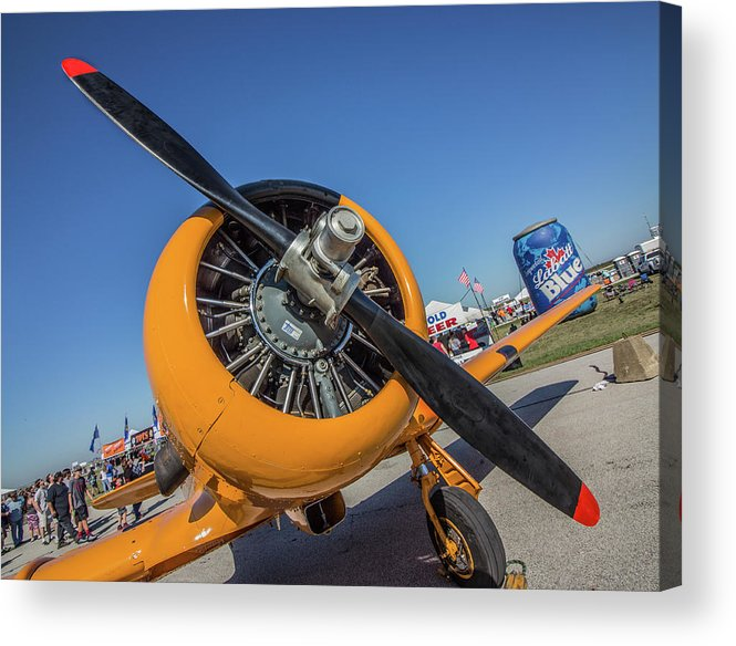 Airplanes-cleveland Downtown-air Show At Cleveland-old Planes Acrylic Print featuring the photograph I'm Still Flying by Joseph Miko