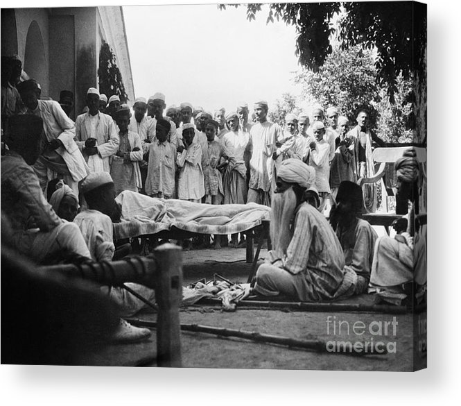 1929 Acrylic Print featuring the photograph India: Malaria Play, C1929 by Granger