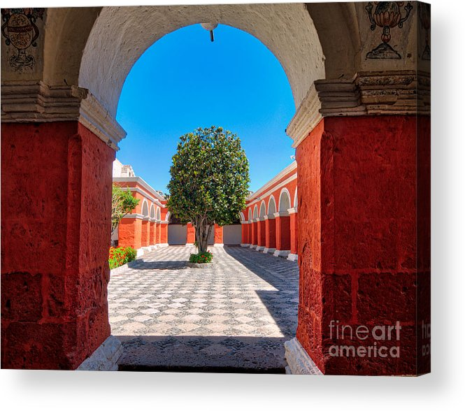 Santa Acrylic Print featuring the photograph Inside Santa Catalina Arequipa by Colin Woods