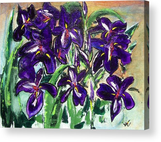 Iris Acrylic Print featuring the painting Iris by Valerie Wolf