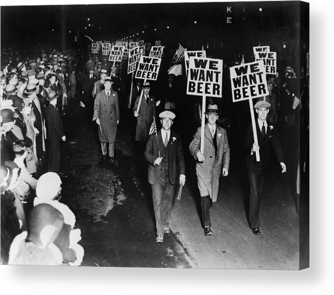 Historical Acrylic Print featuring the photograph Labor Union Members Protesting by Everett