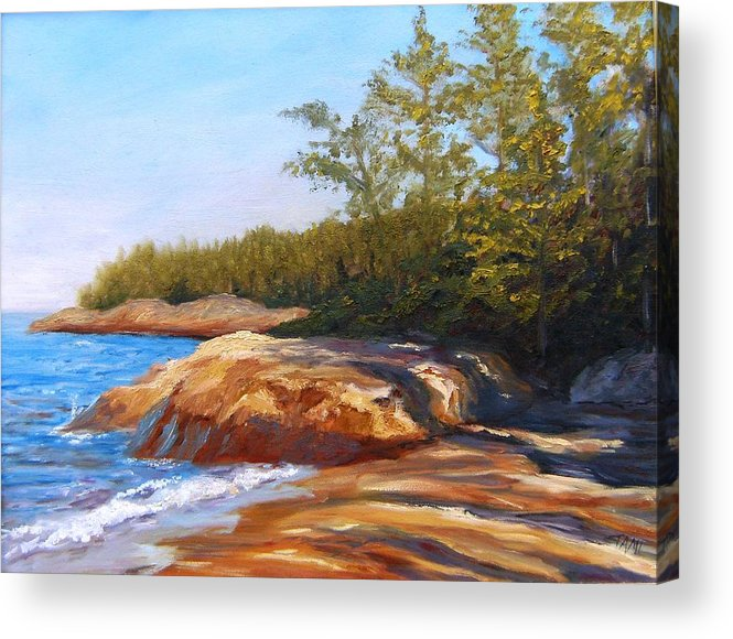 Acrylic Print featuring the painting Lake Shore by Tami Booher
