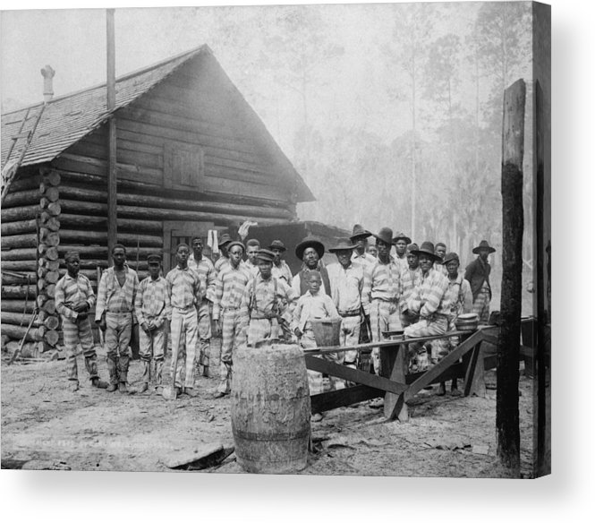 History Acrylic Print featuring the photograph Large Group Of African American Men by Everett