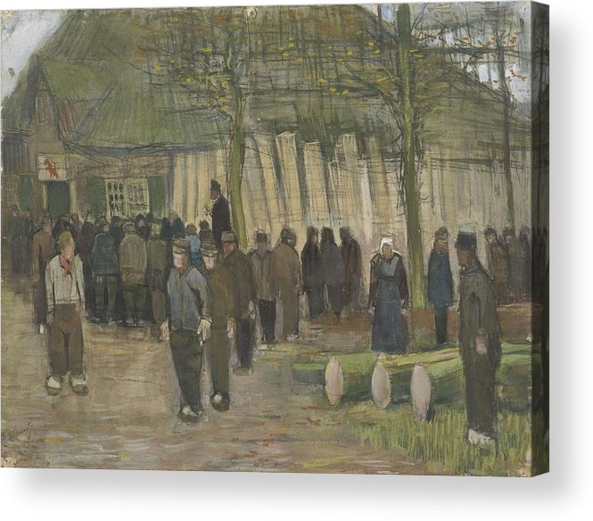 Man Acrylic Print featuring the painting Lumber Sale Nuenen January 1884 Vincent Van Gogh 1853 1890 by Artistic Panda