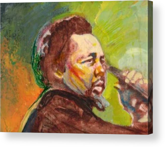 Charles Mingus Acrylic Print featuring the painting Mingus by Michael Facey