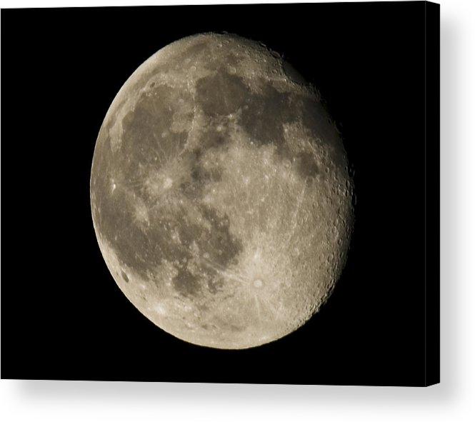 Acrylic Print featuring the photograph Moon3 by Brian Jordan