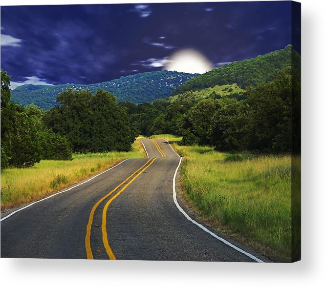 Landscape Acrylic Print featuring the digital art Moonrise by Wendy J St Christopher