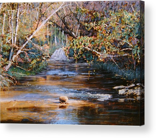 Peace Project Acrylic Print featuring the painting My Secret Place by Ben Kiger
