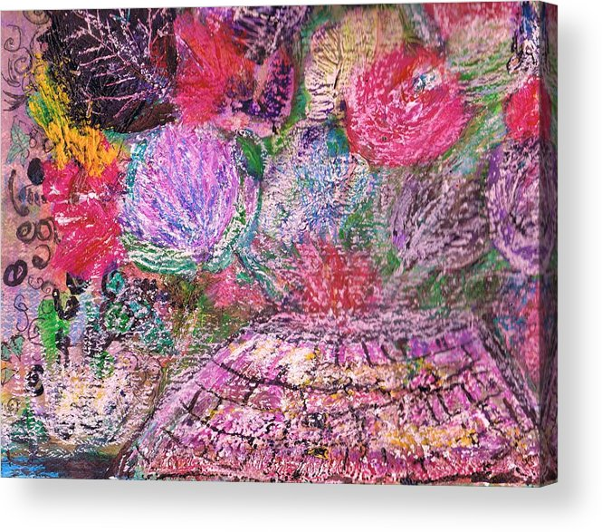 Bouquet Acrylic Print featuring the painting Mystic Bouquet by Anne-Elizabeth Whiteway
