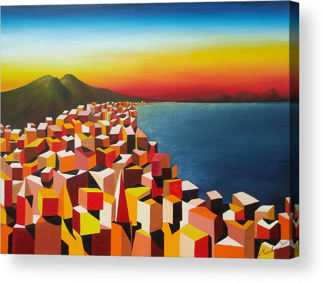 Colors Acrylic Print featuring the painting Napule' Mille Culure by Massimiliano Stanco