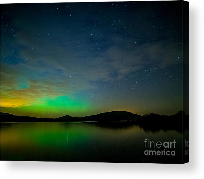 Northern Nights Acrylic Print featuring the photograph Northern Light In Co. Clare by Niall Cosgrove