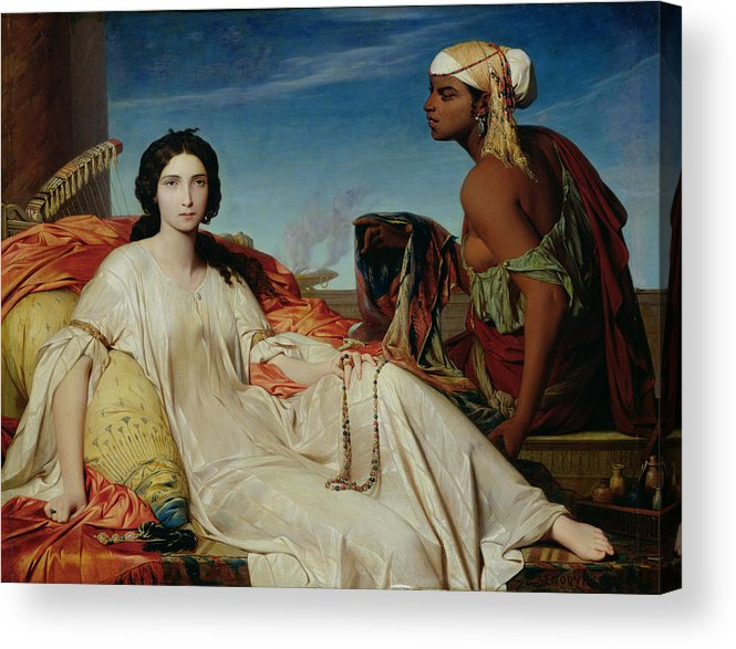 Odalisque Acrylic Print featuring the painting Odalisque by Francois Leon Benouville