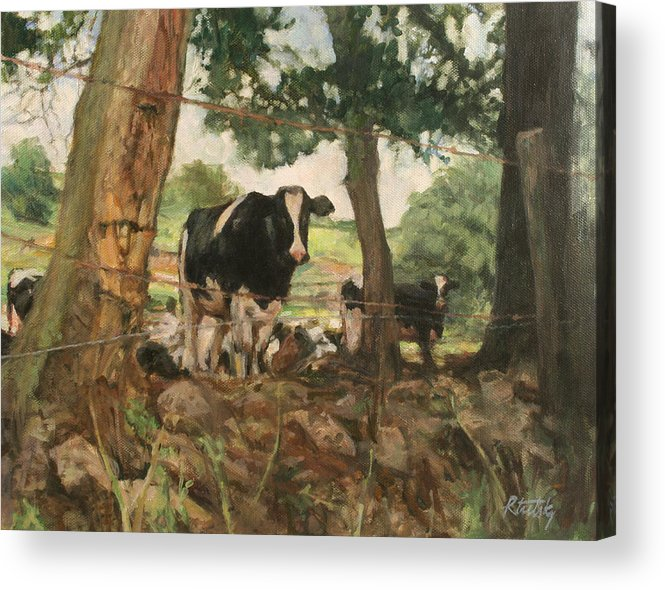 Woods Acrylic Print featuring the painting Onlookers by Robert Tutsky