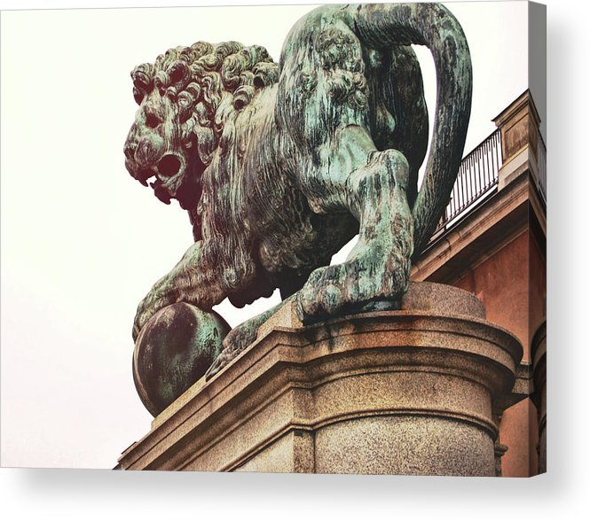 Sweden Acrylic Print featuring the photograph Palace Lion by JAMART Photography