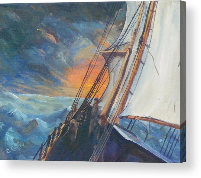 Seascape Acrylic Print featuring the painting Pathfinder by David Carter