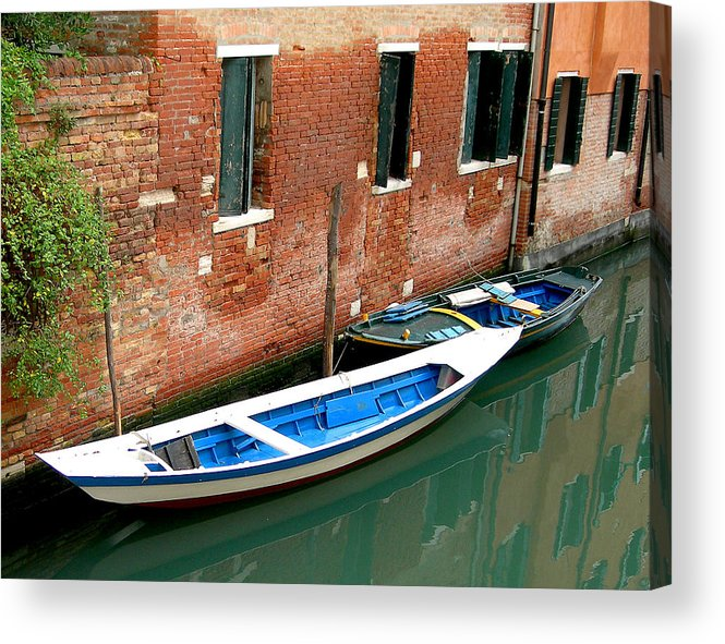 Acrylic Print featuring the photograph Peacefull Canal Parking by Joseph Reilly