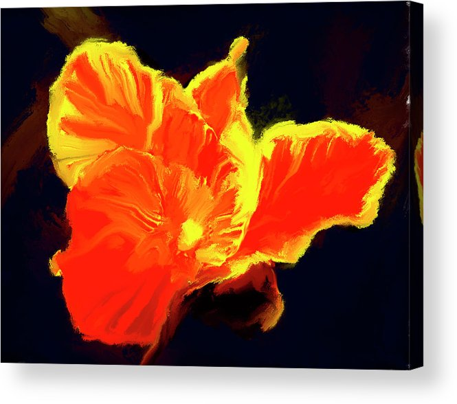 Flower Prints Acrylic Print featuring the painting Petal Flare by Brian Tones