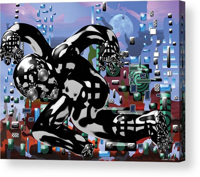 Phantom Acrylic Print featuring the digital art Phantom by Marko Mitic