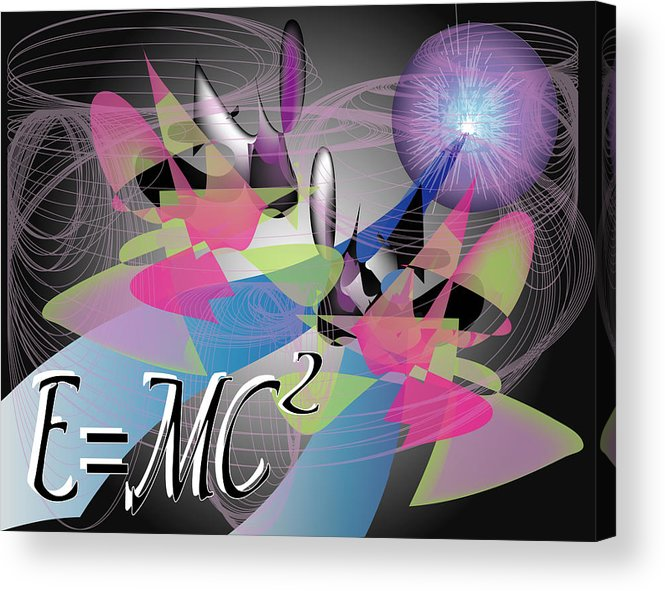 Abstract Acrylic Print featuring the digital art Physics 101 by George Pasini