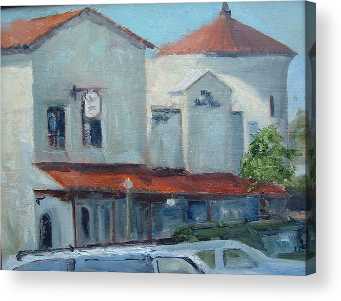 Beach City Acrylic Print featuring the painting Plaza Del Mar by Bryan Alexander