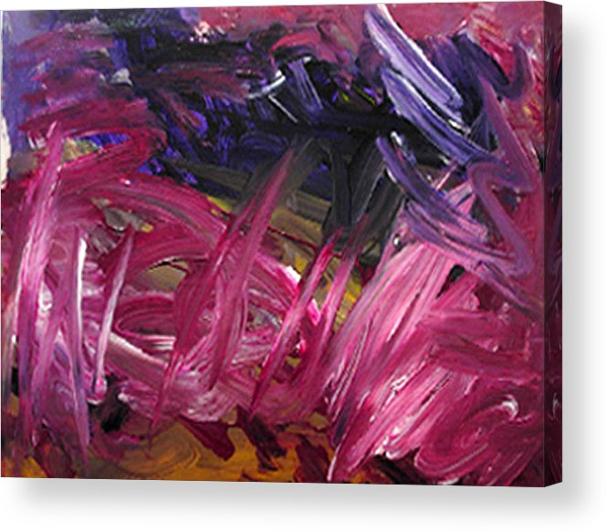 Abstract Acrylic Print featuring the painting Purple Power by Kitty Hansen