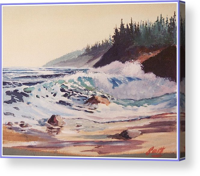 Seascape Acrylic Print featuring the painting Quensland Beach by Barry Smith