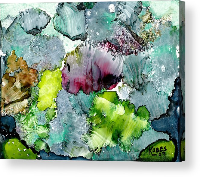 Reef Acrylic Print featuring the painting Reef 4 by Susan Kubes