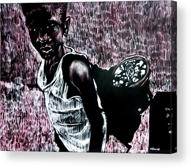 Portrait Acrylic Print featuring the mixed media Reflection by Chester Elmore