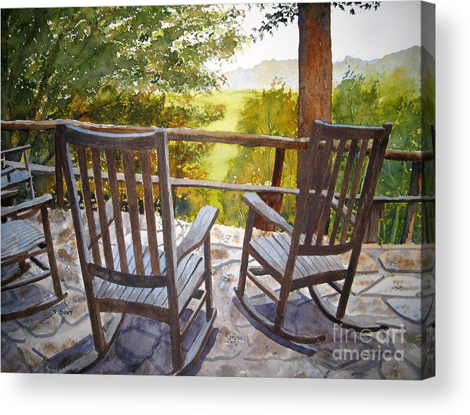 Mountains Acrylic Print featuring the painting Relax by Shirley Braithwaite Hunt