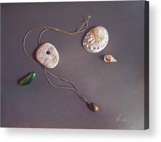 Still Life Acrylic Print featuring the drawing Remembering Last Summer... by Elena Kolotusha