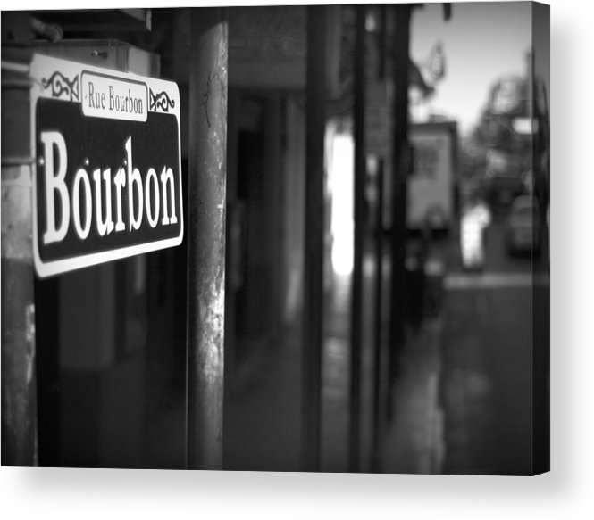 \bourban Street\ Acrylic Print featuring the photograph Rue Bourbon by John Gusky