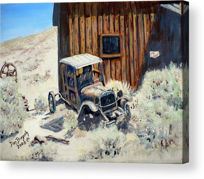 Old Dodge Bros. Truck; Berlin Acrylic Print featuring the painting Rust In Peace by Dan Bozich