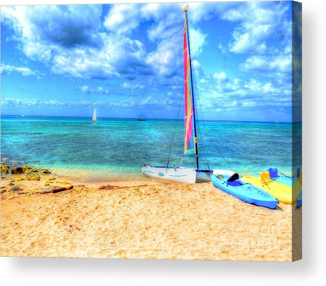 Ocean Acrylic Print featuring the photograph Sailaway by Debbi Granruth