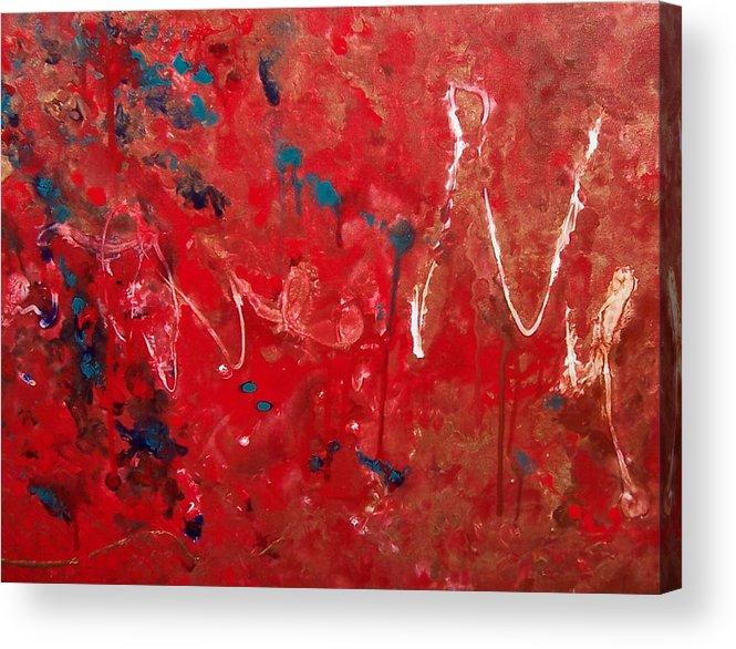 Abstract Acrylic Print featuring the painting Samuel by Jess Thorsen