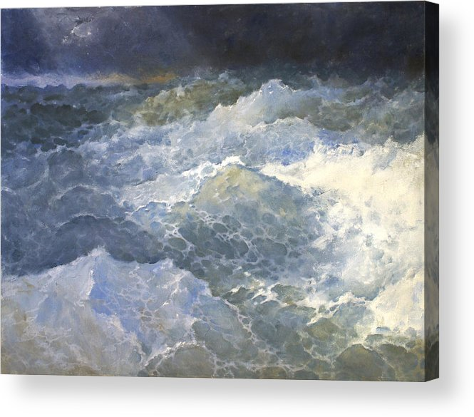 Sea Acrylic Print featuring the painting Sea 3 by Valeriy Mavlo