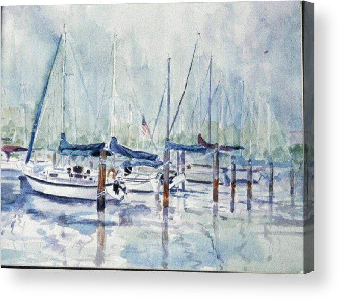 Marina Acrylic Print featuring the painting September Mourning by Ruth Mabee