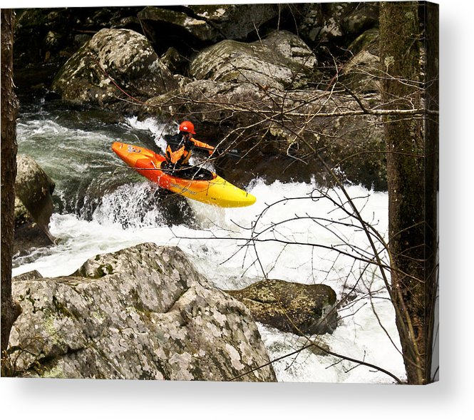 Rapids Acrylic Print featuring the photograph Shooting The Rapids by Douglas Barnett