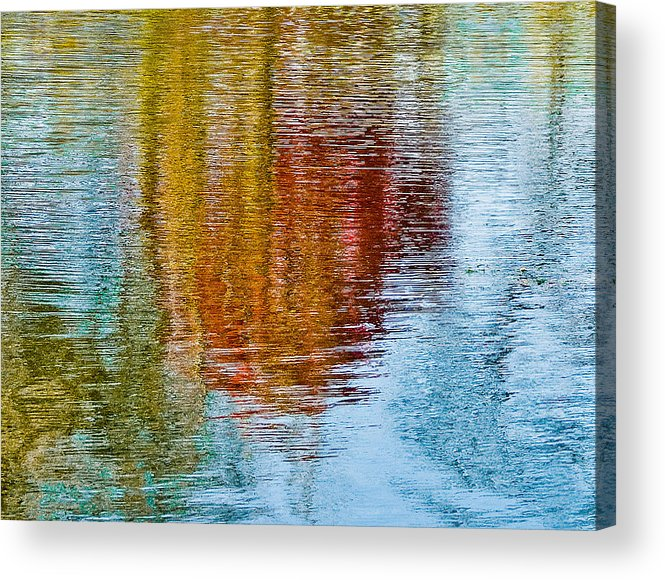 Silver Acrylic Print featuring the photograph Silver Lake Autumn Reflections by Michael Bessler