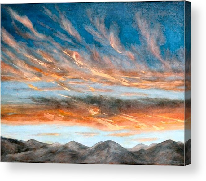 Sunset Acrylic Print featuring the painting Southwest Sunset by Merle Blair